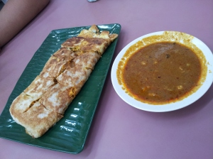 chicken murtabak (like a stuffed pancake) at Zam Zam