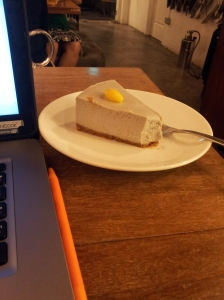 taro cheesecake at Maison Ikkoku (my favorite cafe)