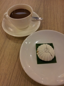 tutu kueh (rice flour with shredded coconut filling) and kopi (coffee)